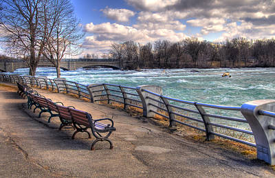 Niagara Rapids In Early Spring Poster