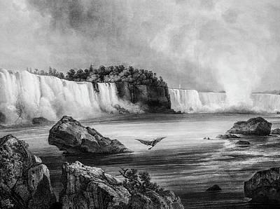 Niagra Falls Circa 1832 Poster