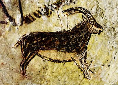 Niaux Goat Poster