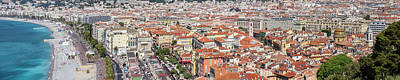 Nice - Promenade Des Anglais And Old Town Panoramic View Poster