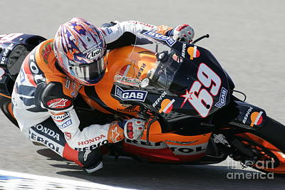 Nicky Hayden Poster by Henk Meijer Photography