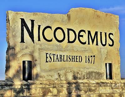 Nicodemus, 1877 Poster