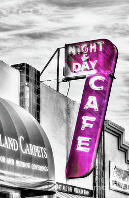 Night And Day Selective Color Poster