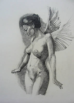 Night Angel Poster by Ray Agius