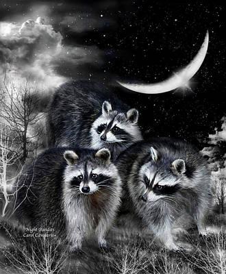 Night Bandits Poster by Carol Cavalaris