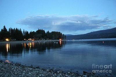 Poster featuring the photograph Night Fall by Victor K
