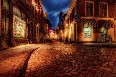 Night Glow - Leiden Poster