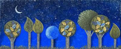 Night Grove Poster by Graciela Bello
