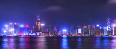 Night Hong Kong Poster