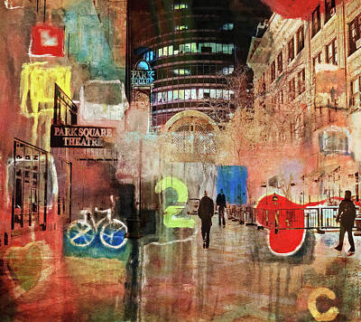 Poster featuring the photograph Night In The City by Susan Stone