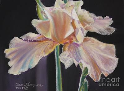 Poster featuring the pastel Night Iris by Terri Thompson