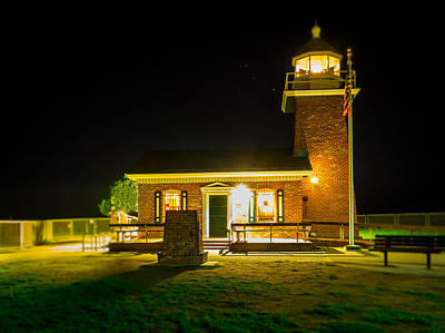 Night Lighthouse Poster by Steve Spiliotopoulos