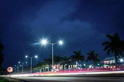Night Lights In Montego Bay City Poster