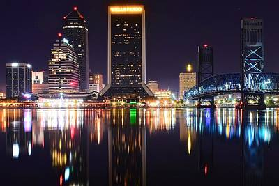 Night Lights Of Jacksonville Poster