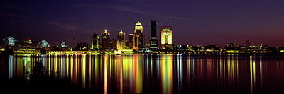Night Louisville Ky Poster by Panoramic Images