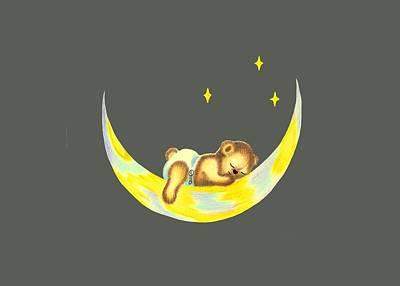 Night Night Teddy Poster