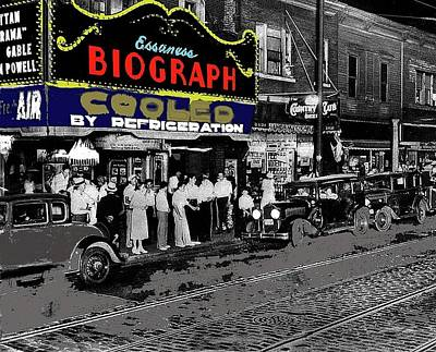 Night Of Dillingers Death Biograph Theater Chicago Illinois July 22 1934 Color Added 2016 Poster