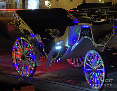 Night Of Lights Carriage Ride Poster by D Hackett