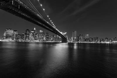 Night Scape Bw Poster by Michael Damiani