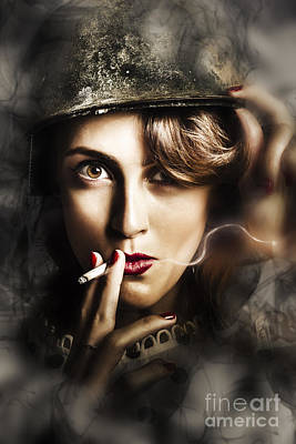 Night Watch Military Pin Up Poster by Jorgo Photography - Wall Art Gallery