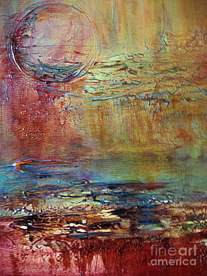 Poster featuring the painting Nightfall by Diana Bursztein