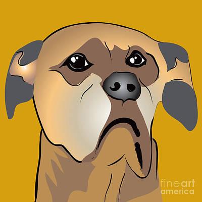 Niki Boxer Dog Portrait Poster