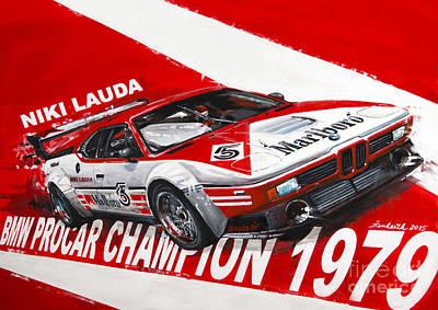 Niki Lauda Bmw M1 Procar  Poster