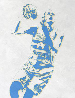 Nikola Jokic Denver Nuggets Pixel Art Poster
