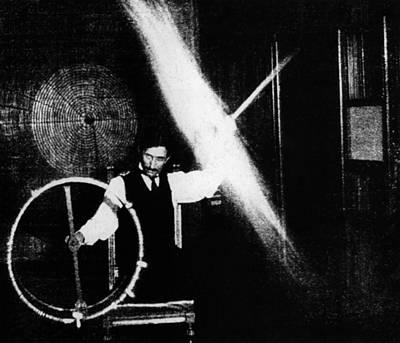 Nikola Tesla 1856-1943 Conducted Poster