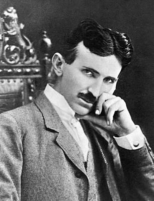 Poster featuring the photograph Nikola Tesla by Artistic Panda