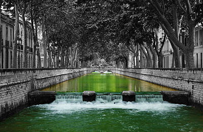 Nimes Boulevard Poster by Scott Carruthers