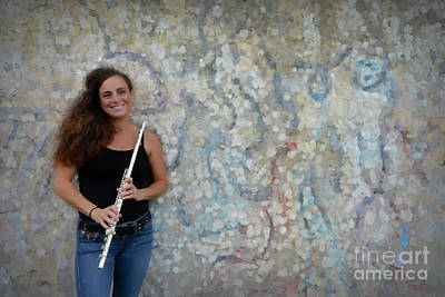 Nina At The Flute Wall Poster by Dan Friend