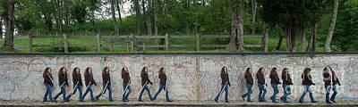 Nina At The Wall Poster by Dan Friend