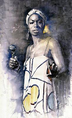 Nina Simone Poster by Yuriy  Shevchuk