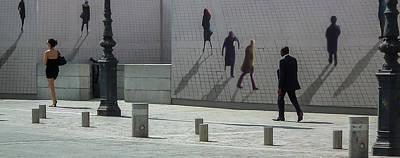 Nine Pedestrians At Place Vendome Poster