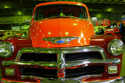 Nineteen Fifty Four Chevy Custom Truck  Poster by Jeff Swan