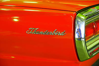 Nineteen Sixty Six Ford Thunderbird Poster by Jeff Swan