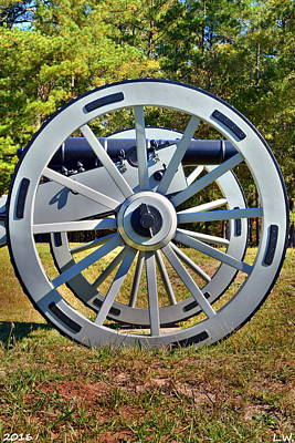 Ninety Six National Historic Site Cannon Wheel Poster by Lisa Wooten