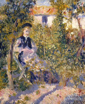 Nini In The Garden, 1876 Poster by Pierre Auguste Renoir