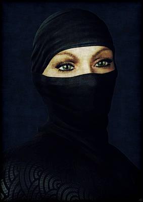 Ninja Portrait Poster by Maynard Ellis