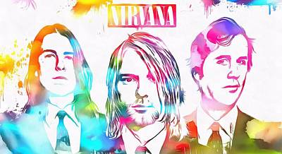 Nirvana Watercolor Paint Splatter Poster by Dan Sproul