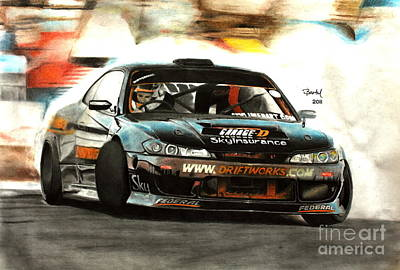 Nissan S15 Driftworks Poster by Gabor Bartal