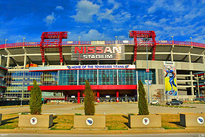 Poster featuring the photograph Nissan Stadium Home Of The Tennessee Titans by Lisa Wooten