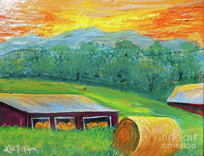 Poster featuring the painting Nixon' Colorful Farm View by Lee Nixon
