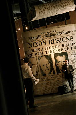 Poster featuring the photograph Nixon Resigns by Kate Purdy