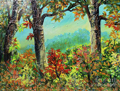 Poster featuring the painting Nixon's Glorious Colors Of Fall by Lee Nixon