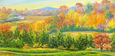 Poster featuring the painting Nixon's Glorious View Of Autumn by Lee Nixon