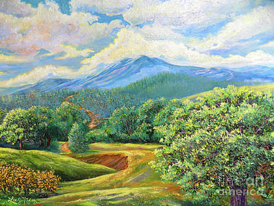 Poster featuring the painting Nixon's Splendid View Of The Blue Ridge by Lee Nixon