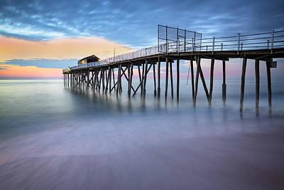 Nj Shore Dawns Early Light Bw Poster