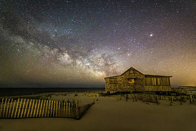 Nj Shore Starry Skies And Milky Way Poster